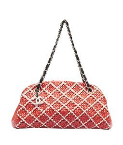Chanel Patent Leather Satchel in Red