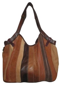 Lucky Brand Leather Suede Hobo Bag