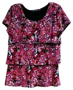 Notations Top black / pink