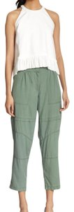 Elizabeth and James #silk #cargo #crop Cargo Pants olive