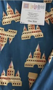 LuLaRoe NWT LuLaRoe OS Leggings Disney Castles Cinderella Blue One Size UNICORN! Leggings