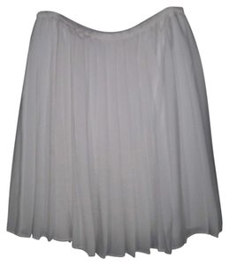 Calvin Klein Pleated Romantic Full Skirt White