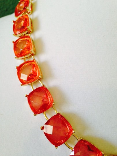 R.J. Graziano Faceted Shades Of Peach & Pink Cushion Cut Necklace