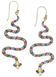 Kate Spade kate spade new york 14k Gold-Plated Colored Crystal Snake Drop Earring