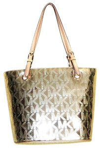Michael Kors Signature Tote in Pale Gold