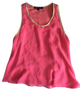 Elizabeth and James Leather Silk Top Pink
