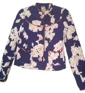 Anthropologie Navy and White Jacket
