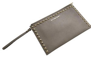 Michael Kors Studded Leather taupe Clutch