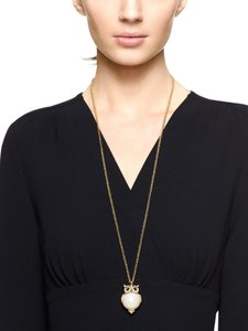 Kate Spade NEW kate spade Into the Woods owl pendant long necklace