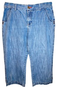 Lee Capri/Cropped Denim-Medium Wash