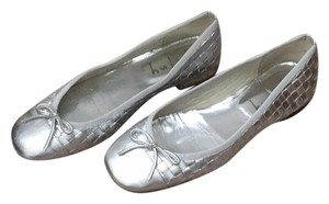 French Sole silver Flats