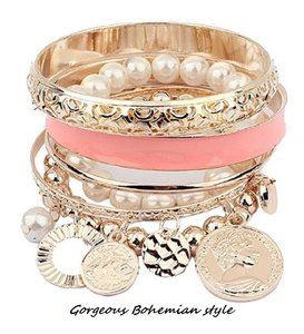 Other Chic Bohemian Boho Style set of Bracelets *FREE Shipping and Gift Box*