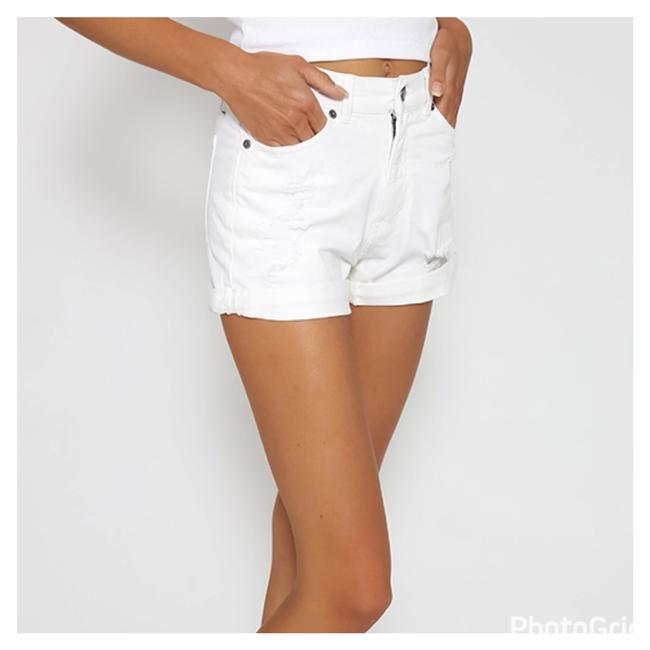 Item - White Repaired Rolled Shorts Size 10 (M, 31)