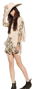 SPELL & THE GYPSY COLLECTIVE short dress Oyster ( whitish) Fringe on Tradesy
