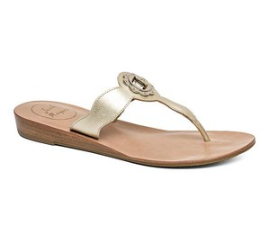 Jack Rogers Thong Classic Leather champagne/gold Sandals
