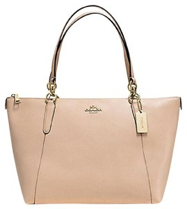 Coach Satchel Leather Satchel Handbag 35808 Tote in Beech wood gold
