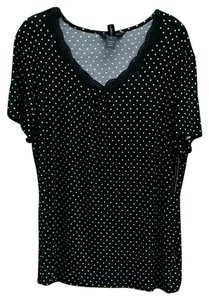 Ambrielle Top black/white
