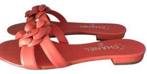 Chanel coral Sandals