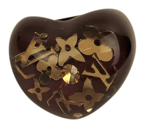 Louis Vuitton Louis Vuitton Amarante Resin Inclusion Heart Ring Size 7