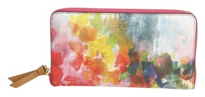 Tory Burch Tory Burch Cameron Watercolor Zip Around Continental Wallet