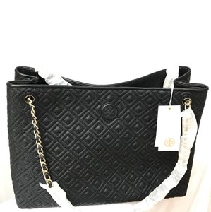 Tory Burch Leather Quilted Chain Shoulder Bag