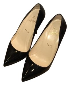Christian Louboutin Pigalle Plato Louboutin Heels Louboutin Pigalle Louboutin 37.5 Classic Louboutin Black Patent Leather Pumps