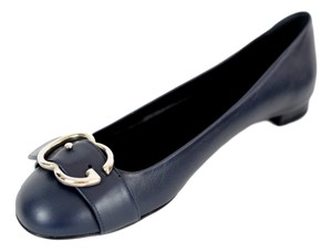 Gucci Gg Sachalin 370613 Navy Blue Flats