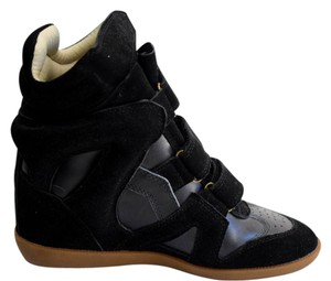 Isabel Marant Wedges Bekett Sneaker Hightop Black Boots
