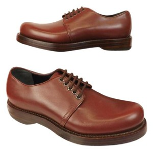 cd9581506e3 Gucci Shardonay Mens Burgundy Smooth Leather Goodyear Lace Up Classic Oxfords  9.5 10.5 Shoes