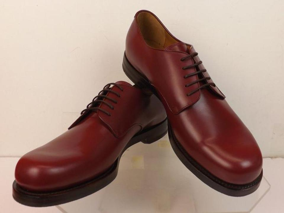 Gucci Wine Mens Smooth Leather Goodyear Lace Up Dress Oxfords 105 115 Shoes 17 Off Retail