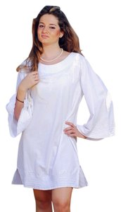 Lirome short dress White Embroidered Tunic Resort on Tradesy