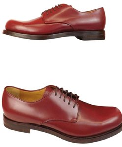 Gucci Wine Mens Smooth Leather Goodyear Lace Up Dress Oxfords 8 9 Shoes