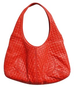 Bottega Veneta Leather Houndstooth Vintage Hobo Bag