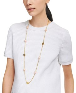 Tory Burch Tory Burch Evie Dipped-Pearly Rosary Necklace
