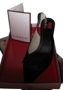 Coach Leather Suede Black Pumps