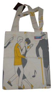 Other Purse Tote Shiulder Hand Made Vintage White Dance Print Beach Bag