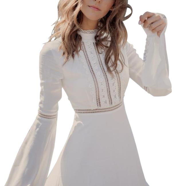 Item - White Willow Bell Sleeve Short Cocktail Dress Size 0 (XS)