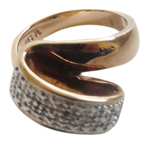 Technibond Technibond Diamond Accent Open Swirl Bypass Ring size 8