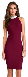 Elizabeth and James Bodycon Embellished Sexy Zipper Fitted Dress