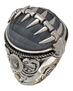 Stephen Webster Stephen Webster Jewels Verne Womens crystal haze fish skeleton ring