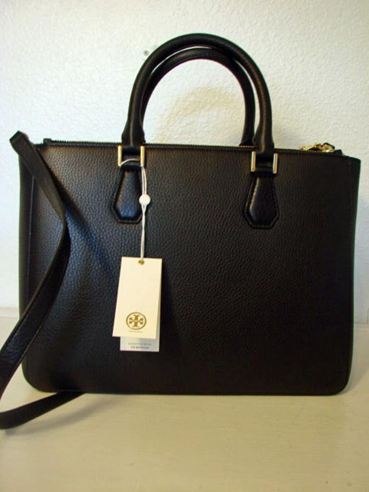 29dd09719ec0 Tory Burch Landon Multi Pebbled Black Soft Leather Tote - Tradesy