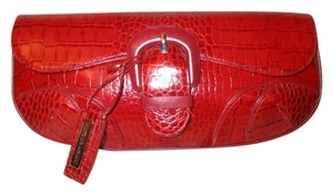 Antonio Melani Leather Croc red Clutch