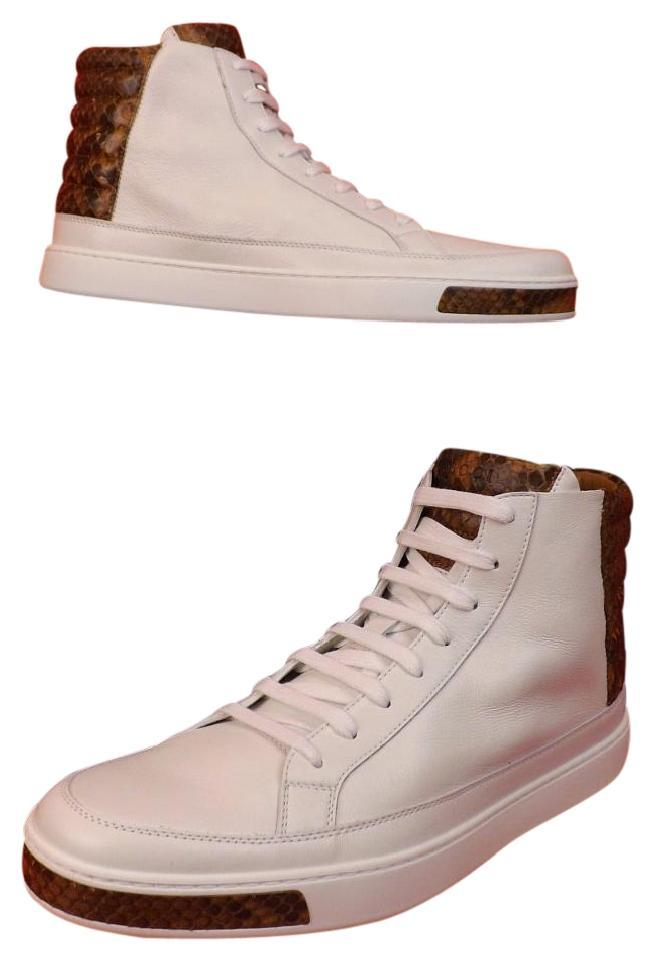 aac2a1c93 Gucci White Mens Leather Python Details Limited Hi Top Sneakers 9 / Us 10  Shoes