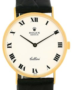 Rolex Rolex Cellini Classic White Dial 14k Yellow Gold Unisex Watch 3833