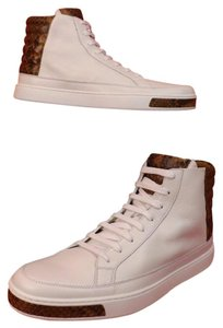 Gucci Mens White Leather Python Details Limited Hi Top Sneakers 8.5 9.5