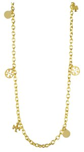 Tory Burch NEW Tory Burch Convertible Logo Charm Necklace 16k gold