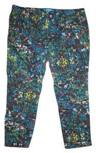 Derek Lam Stretch Cropped Xl Spring Summer Capri/Cropped Pants Multicolored