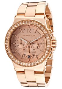 Michael Kors NEW WOMENS MICHAEL KORS (MK5412) CHRONO DYLAN GLITZ ROSE GOLD WATCH