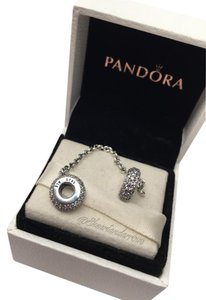 PANDORA Pandora cz Pave safety chain in original gift pouch