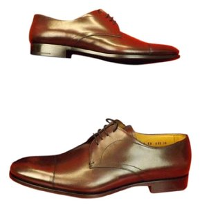 Prada Wine Mens Burnished Leather Lace Up Classic Oxfords 10/ 11 Shoes